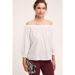 Anthropologie Holding Horses white Clara top sz L